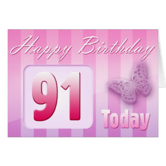 Happy 91st Birthday Grand Mother Great-Aunt Mom Greeting Card