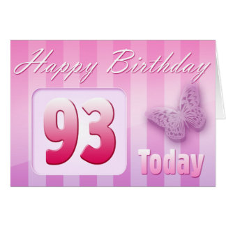Happy 93rd Birthday Grand Mother Great-Aunt Mom Card