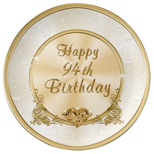 Happy 94th Birthday Gifts Plate