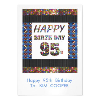 Happy 95th Birthday Change or delete Text msg 95 Magnetic Card