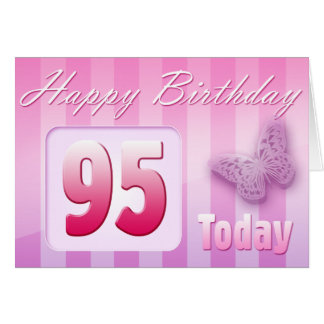 Happy 95th Birthday Grand Mother Great-Aunt Mom Greeting Card