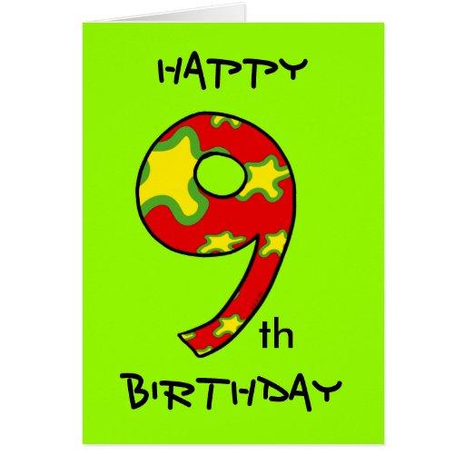 Happy 9th Birthday Card