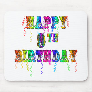 Happy 9th Birthday Shirts, Birthday Mugs and more Mouse Pad
