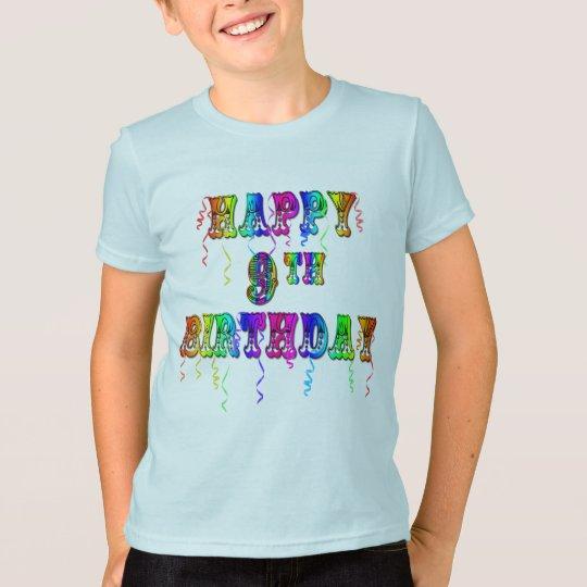 Happy 9th Birthday Shirts Hoodies and Tanks
