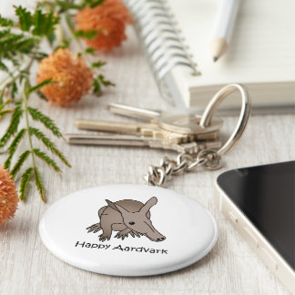 Happy Aardvark Keychains