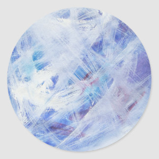 Happy abstract acrylic art painting classic round sticker