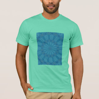 Happy Abstract Blue into kaleidoscope mint T-Shirt