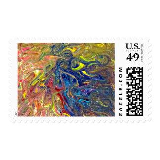 Happy Accidents Postage Stamp