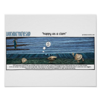 happy ace has clam poster