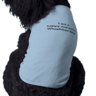 Happy active wheelchair dog Pet Shirt