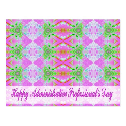 happy administrative professional day postcard