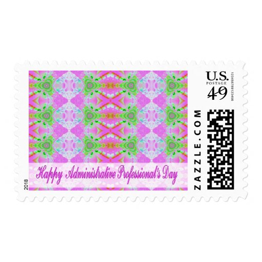 happy administrative professionals day postage stamp
