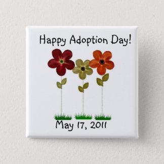 happy adoption day button
