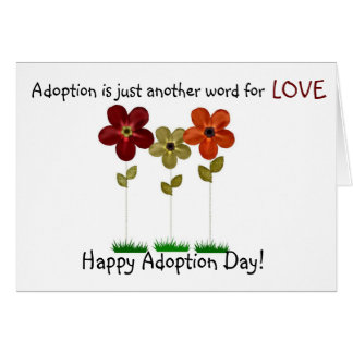 happy adoption day greeting card
