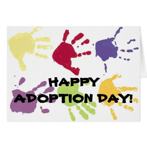 HAPPY ADOPTION DAY! childrens hands card