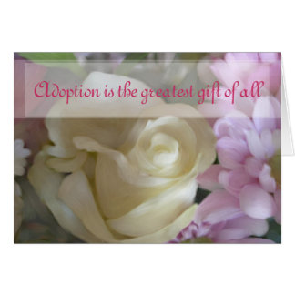 Happy Adoption Day Floral Greetings Card