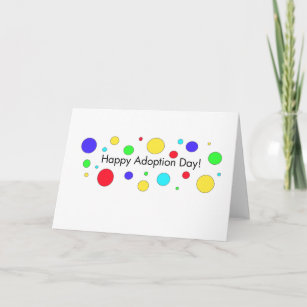 Adoption day cards zazzle happy adoption day greeting card m4hsunfo