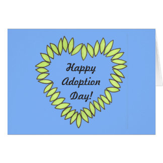 Happy Adoption Day Leaf Heart Card