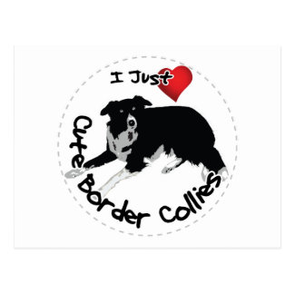 Happy Adorable & Funny Border Collie Dog Postcard