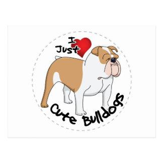 Happy Adorable & Funny Bulldog Dog Postcard