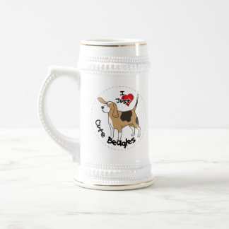 Happy Adorable Funny & Cute Beagle Dog Beer Stein