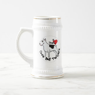Happy Adorable Funny & Cute Bull Terrier Dog Beer Stein