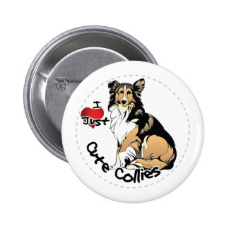 Happy Adorable Funny & Cute Collie Dog Pinback Button