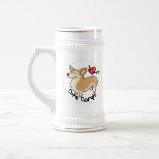 Happy Adorable Funny & Cute Corgi Dog Beer Stein