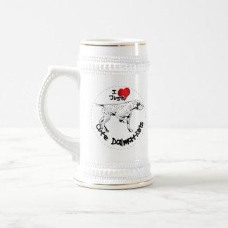 Happy Adorable Funny & Cute Dalmatian Dog Beer Stein