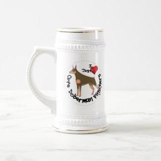 Happy Adorable Funny & Cute Doberman Pinscher Dog Beer Stein