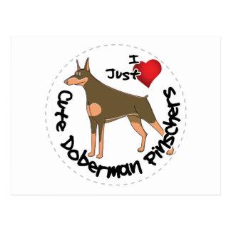 Happy Adorable Funny & Cute Doberman Pinscher Dog Postcard