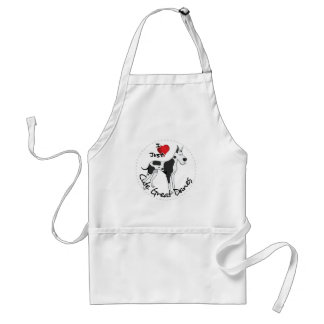 Happy Adorable Funny & Cute Great Dane Dog Adult Apron