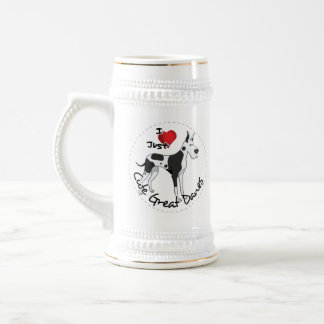 Happy Adorable Funny & Cute Great Dane Dog Beer Stein
