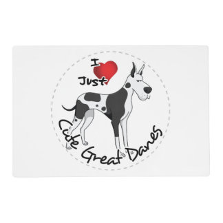 Happy Adorable Funny & Cute Great Dane Dog Placemat