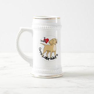 Happy Adorable Funny & Cute Labrador Dog Beer Stein