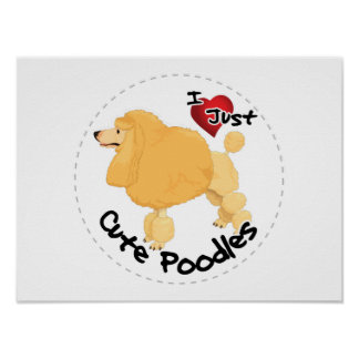 Happy Adorable Funny & Cute Poodle Dog Poster