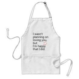 happy adult apron