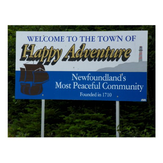 Happy Adventure, Newfoundland Postcard