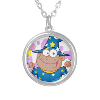 Happy African American Wizard Boy Jewelry
