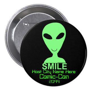 Happy Alien Comic Con VIP Event Merch Button