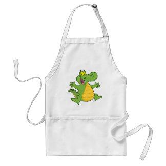 Happy Aligator Or Crocodile Adult Apron