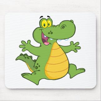 Happy Aligator Or Crocodile Mouse Pad