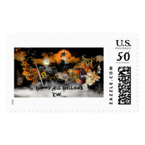 Happy All Hallows Eve Postage