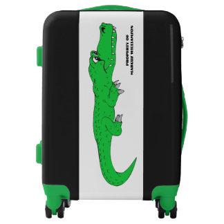 Happy Alligator Boy Personalized Luggage