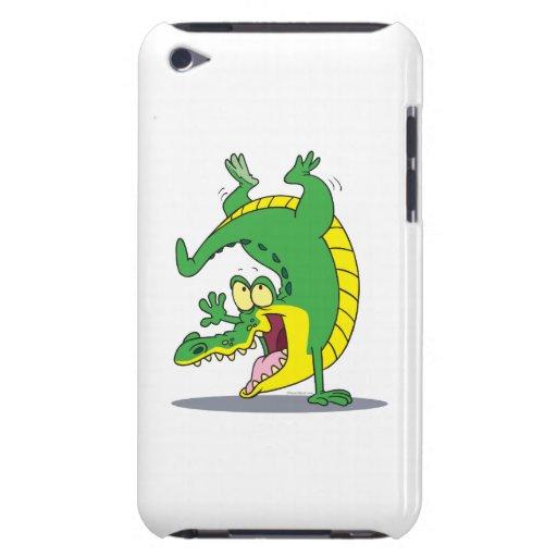 happy alligator crocodile cartoon dancing iPod Case-Mate case