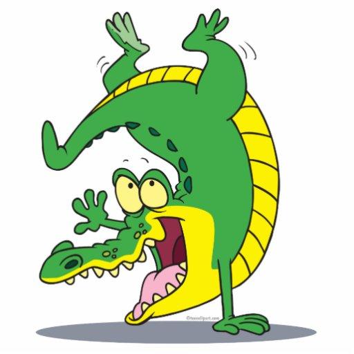happy alligator crocodile cartoon dancing photo sculpture keychain