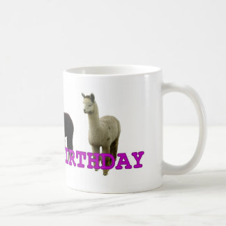 Happy (alpaca)  birthday classic white coffee mug