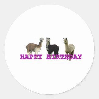 Happy (alpaca)  birthday stickers
