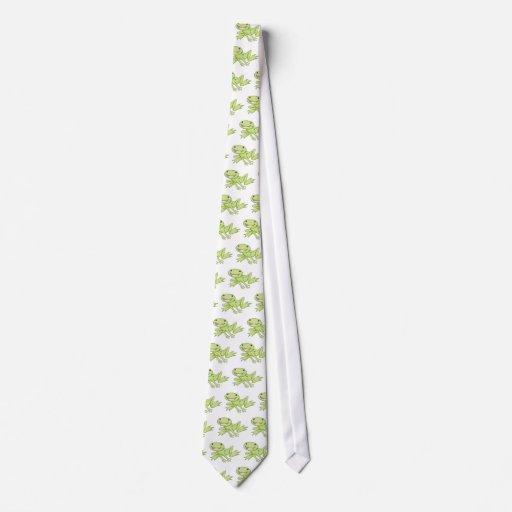 Happy American Bullfrog Tie