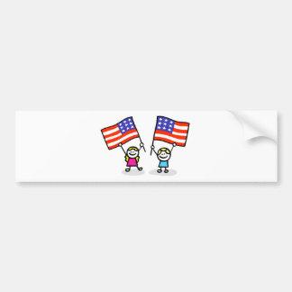 happy american children independence day bumper sticker